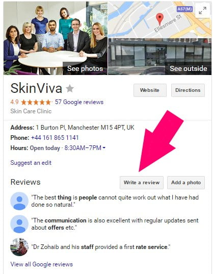 skinviva google reviews