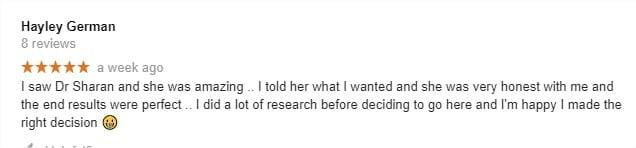 Dr Sharan reviews