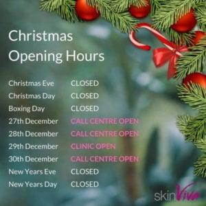 skinviva christmas opening hours
