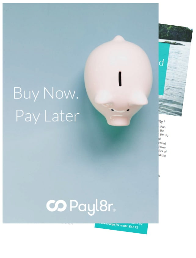 Spread the cost with Payl8r